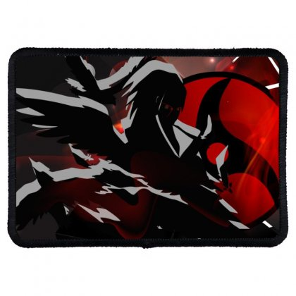 Itachi Uchiha - Shinobi In Words  2 Rectangle Patch Designed By Colle-q