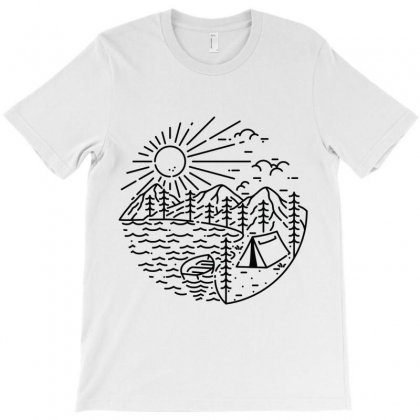 Camping Lake T-shirt Designed By Quilimo