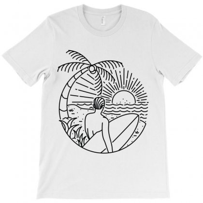It's Time To Surf T-shirt Designed By Quilimo