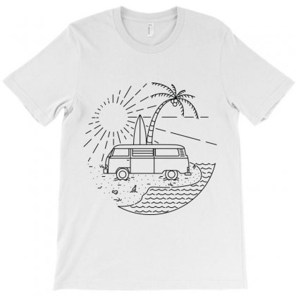Van And Beach T-shirt Designed By Quilimo