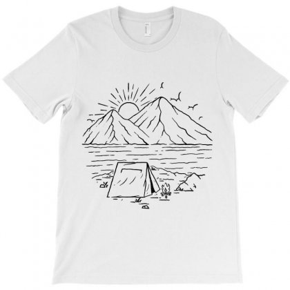 Camping Lake And Mountain T-shirt Designed By Quilimo