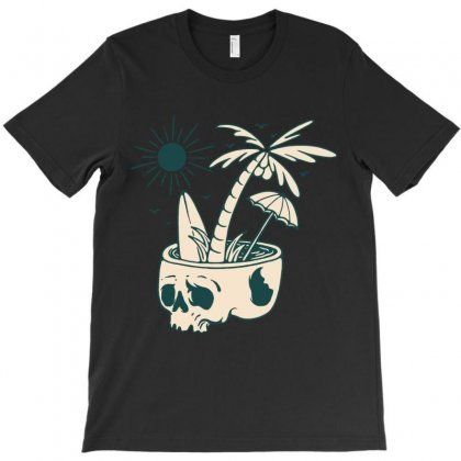 Skull Summer T-shirt Designed By Quilimo