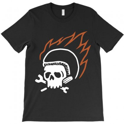 Biker Fire T-shirt Designed By Quilimo