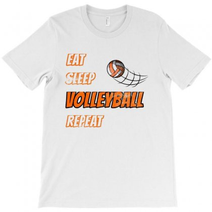 Eat Sleep Volleyball Repeat Sport Fan T-shirt Designed By Hoainv
