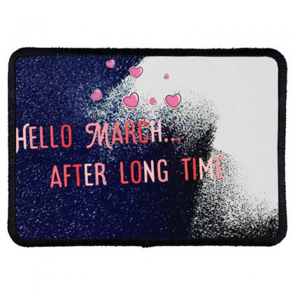 March Rectangle Patch Designed By Neelima K