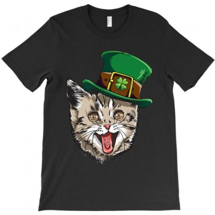 Cat Leprechaun Happy St Cattys Day Catricks Patricks Shirts T-shirt Designed By Liquegifts