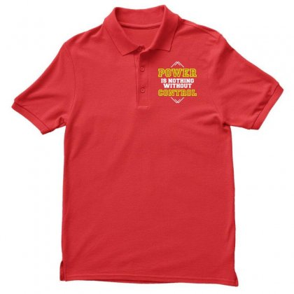 Power Is Nothing Without Control Men's Polo Shirt Designed By Designisfun