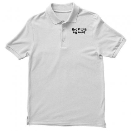 Stop Petting My Peeves Men's Polo Shirt Designed By Thebestisback