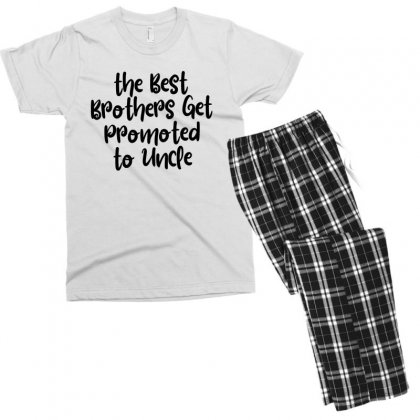 The Best Brothers Get Promoted To Uncle Men's T-shirt Pajama Set Designed By Thebestisback
