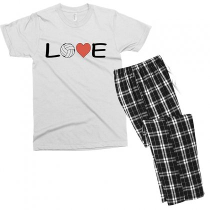 Volleyball   Love Men's T-shirt Pajama Set Designed By Hoainv