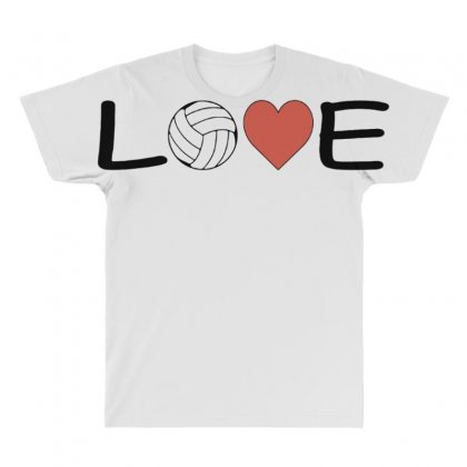 Volleyball   Love All Over Men's T-shirt Designed By Hoainv