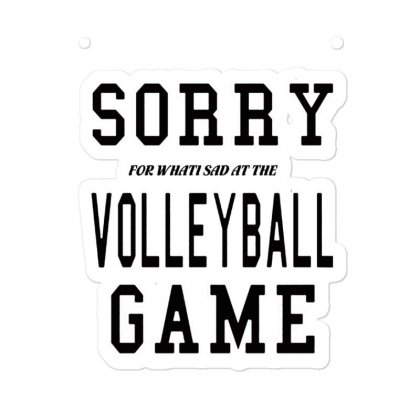 Volleyball  Sorry Volleyball Game Sticker Designed By Hoainv