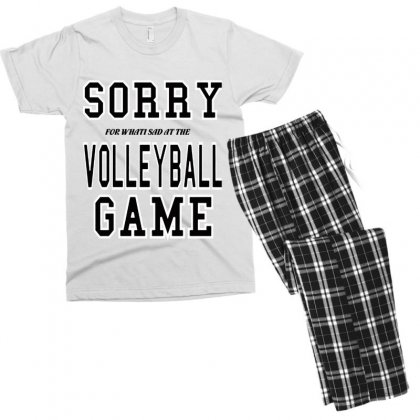 Volleyball  Sorry Volleyball Game Men's T-shirt Pajama Set Designed By Hoainv