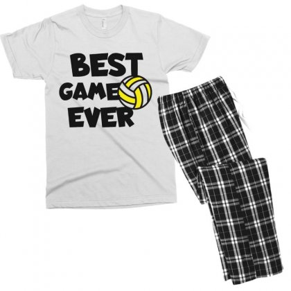 Volleyball Best Game Ever Men's T-shirt Pajama Set Designed By Hoainv