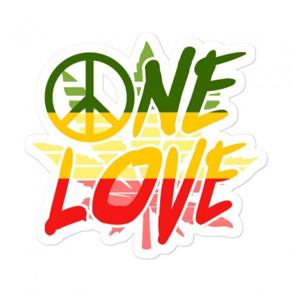 One Love Sticker Designed By Shirt1na