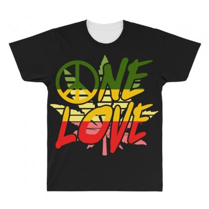 One Love All Over Men's T-shirt Designed By Shirt1na