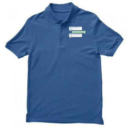 Happy Valentines Day Independence Men's Polo Shirt Designed By Designisfun