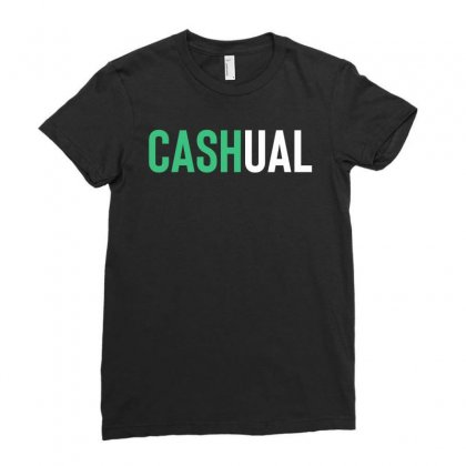 Cash Money Casual Ladies Fitted T-shirt Designed By Designisfun