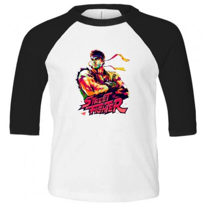 Street Fighter Ryu Toddler 3/4 Sleeve Tee Designed By Sr88