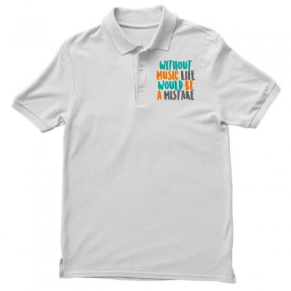 Music Is Life Men's Polo Shirt Designed By Designisfun