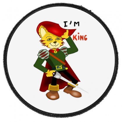 I'm King Round Patch Designed By Nad