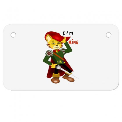 I'm King Motorcycle License Plate Designed By Nad