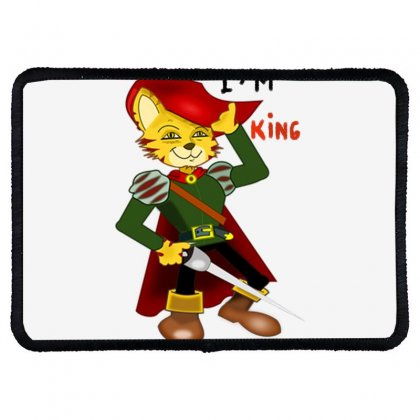 I'm King Rectangle Patch Designed By Nad