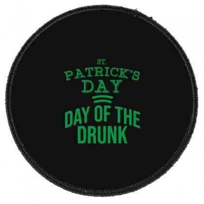 Day Of The Drunk Round Patch Designed By Cypryanus
