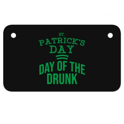 Day Of The Drunk Motorcycle License Plate Designed By Cypryanus