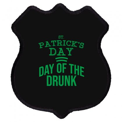 Day Of The Drunk Shield Patch Designed By Cypryanus