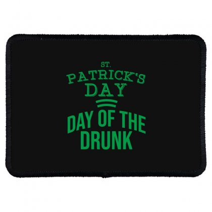 Day Of The Drunk Rectangle Patch Designed By Cypryanus