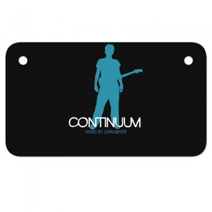 New John Mayer   Continuum Logo Motorcycle License Plate Designed By Fanshirt