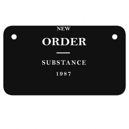 New Order Band Substance Motorcycle License Plate Designed By Fanshirt