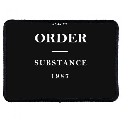 New Order Band Substance Rectangle Patch Designed By Fanshirt