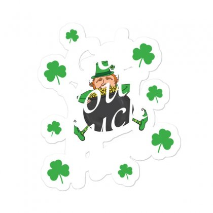 Get Your Luck Here,  Saint Patrick's Day Gift Sticker Designed By Cypryanus