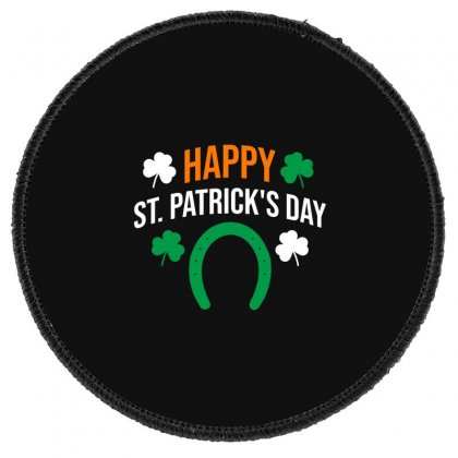 Happy St  Patricks Day Round Patch Designed By Cypryanus