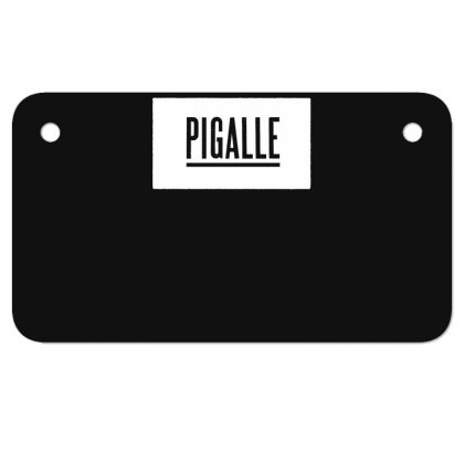 New Pigalle Classic Logo Motorcycle License Plate Designed By Fanshirt