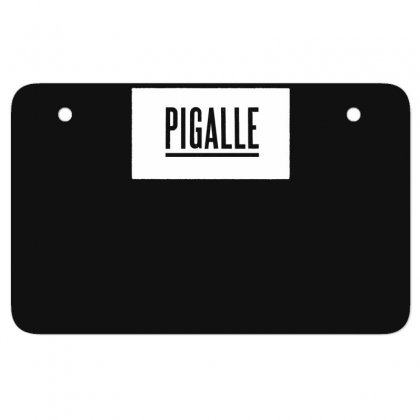 New Pigalle Classic Logo Atv License Plate Designed By Fanshirt