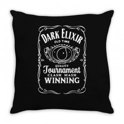 new popular dark elixir clash of clans quote coc Throw Pillow | Artistshot