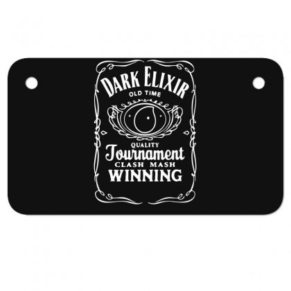 New Popular Dark Elixir Clash Of Clans Quote Coc Motorcycle License Plate Designed By Fanshirt