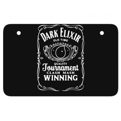 New Popular Dark Elixir Clash Of Clans Quote Coc Atv License Plate Designed By Fanshirt