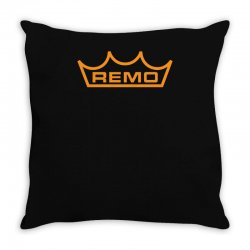 new remo cymbals drum logo Throw Pillow | Artistshot