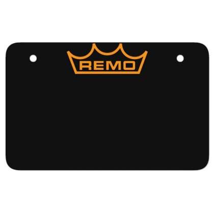 New Remo Cymbals Drum Logo Atv License Plate Designed By Fanshirt