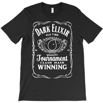 New Popular Dark Elixir Clash Of Clans Quote Coc T-shirt Designed By Fanshirt