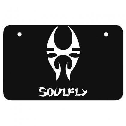 New Soulfly Metal Rock Band Logo Atv License Plate Designed By Fanshirt