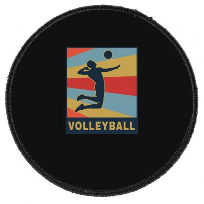 Volleyball Girl Team Club Player Round Patch Designed By Hoainv