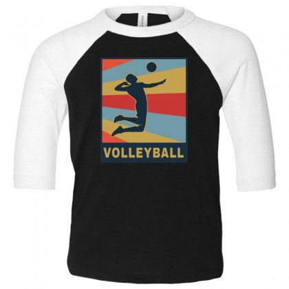 Volleyball Girl Team Club Player Toddler 3/4 Sleeve Tee Designed By Hoainv