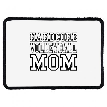 Volleyball Hardcore Volleyball Mom Rectangle Patch Designed By Hoainv
