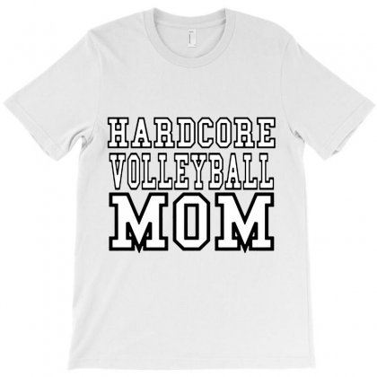 Volleyball Hardcore Volleyball Mom T-shirt Designed By Hoainv