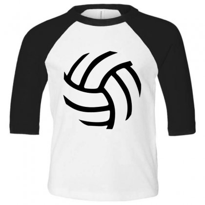 Volleyball Volleyball Toddler 3/4 Sleeve Tee Designed By Hoainv